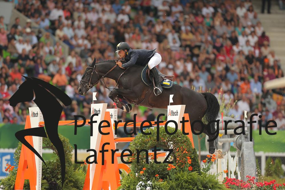 Szentirmai, Ferenc, Chadino<br /> Normandie - WEG 2014<br /> Springen - Finale III<br /> © www.sportfotos-lafrentz.de/ Stefan Lafrentz