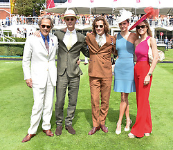29 July 2021 - The QATAR Goodwood Festival Ladies Day at Goodwood Racecourse, West Sussex.<br /> Picture Shows - The Duke of Richmond & Gordon, Lord William Gordon-Lennox, The Earl of March & Kinrara, Eleanor Lambert and Eleonore Decaux.<br /> <br /> NON EXCLUSIVE - WORLD RIGHTS