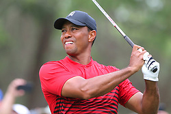 March 11, 2018 - Palm Harbor, FL, U.S. - PALM HARBOR, FL - MARCH 11: Tiger Woods hit his tee shot during the final round of the Valspar Championship on March 11, 2018, at Westin Innisbrook-Copperhead Course in Palm Harbor, FL. (Photo by Cliff Welch/Icon Sportswire) (Credit Image: © Cliff Welch/Icon SMI via ZUMA Press)