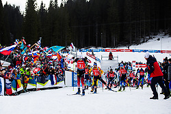 Vetle Sjaastad Christiansen (NOR), Erik Lesser (GER) during the Single Mixed Relay 6 km / 7,5 kmn at day 3 of IBU Biathlon World Cup 2019/20 Pokljuka, on January 23, 2020 in Rudno polje, Pokljuka, Pokljuka, Slovenia. Photo by Peter Podobnik / Sportida