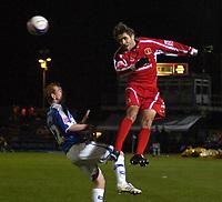 Photo: Matt Bright/Sportsbeat Images.<br /> Brighton & Hove Albion v Carlisle United. Coca Cola League  1. 24/11/2007.<br /> Zigor Aranalde of Carlisle beats Tommy Fraser of Brighton to the ball