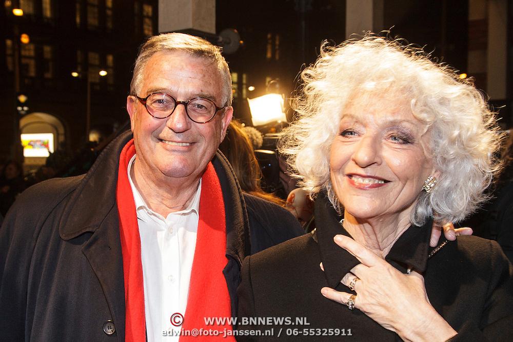 NLD/Amsterdam/20150306 - Boekenbal 2015, Nelleke Noordervliet en partner Peter