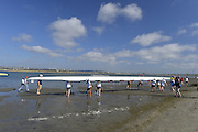 San Diego, California. USA. General Views, Crews boating from the beach. 2013 Crew Classic Regatta, Mission Bay.  16:31:42.  Saturday  06/04/2013   [Mandatory Credit. Peter Spurrier/Intersport Images]  ..