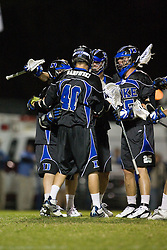 01 March 2008: Duke Blue Devils men's lacrosse in a 15-7 win over the Maryland Terrapins at Koskinen Stadium in Durham, NC