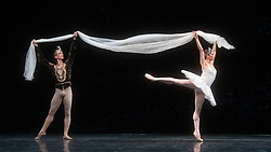 La Bayadere <br /> A ballet in three acts <br /> Choreography by Natalia Makarova <br /> After Marius Petipa <br /> The Royal Ballet <br /> At The Royal Opera House, Covent Garden, London, Great Britain <br /> General Rehearsal <br /> 30th October 2018 <br /> <br /> STRICT EMBARGO ON PICTURES UNTIL 2230HRS ON THURSDAY 1ST NOVEMBER 2018 <br /> <br /> Marianela Nunez as Nikiya <br /> A Bayadere and a temple dancer <br /> <br /> Vadim Muntagirov as Solor <br /> A warrior <br /> <br /> <br /> <br /> Photograph by Elliott Franks Royal Ballet's Live Cinema Season - La Bayadere is being screened in cinemas around the world on Tuesday 13th November 2018 <br /> --------------------------------------------------------------------