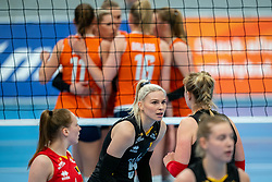 Jodie Guilliams of Belgium in action during the Women's friendly match between Netherlands and Belgium at Sporthal De Basis on may 19, 2021 in Sliedrecht, Netherlands (Photo by RHF Agency/Ronald Hoogendoorn)