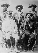 Salvaro Obregon Salido (1880-1928) Mexican general and politician, President of Mexico 1920-1924. Obregon as  Commander of the Constitutional  Army of the Northwest with his staff of Yaqui troops c1913.