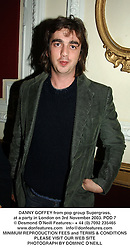 DANNY GOFFEY from pop group Supergrass, at a party in London on 3rd November 2003.POD 7