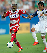 FRISCO, TX - JULY 13:  Jair Benitez #5 of FC Dallas controls the ball against Real Salt Lake on July 13, 2013 at FC Dallas Stadium in Frisco, Texas.  (Photo by Cooper Neill/Getty Images) *** Local Caption *** Jair Benitez
