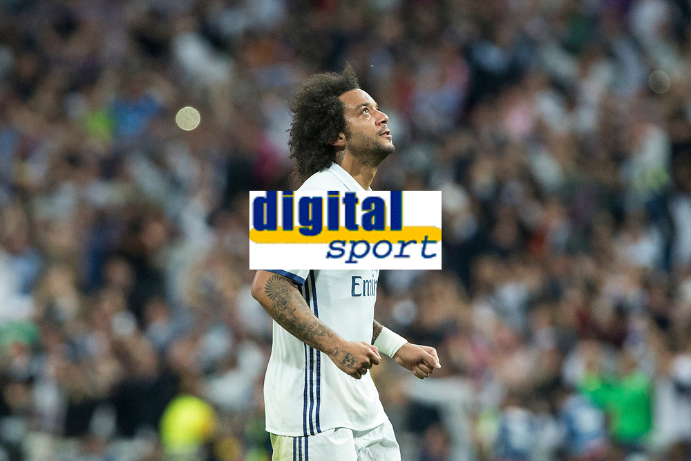 Marcelo Vieira of Real Madrid during the match of Champions League between Real Madrid and FC Bayern Munchen at Santiago Bernabeu Stadium  in Madrid, Spain. April 18, 2017. (ALTERPHOTOS)