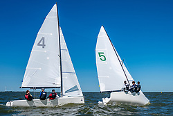 in action by the Open Dutch Sailing Championships on September 18, 2020 in Medemblik, Netherlands