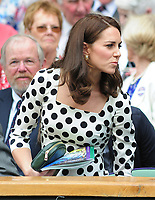 Tennis - 2017 Wimbledon Championships - Week One, Monday [Day One]<br /> <br /> Men's Singles, First Round<br /> <br /> Andy Murray (GBR) vs. Alexander Bublik (Kazakhstan)<br /> <br /> HRH The Duchess of Cambridge (Kate) arrives in the Royal box on Centre Court.<br /> <br /> COLORSPORT/ANDREW COWIE