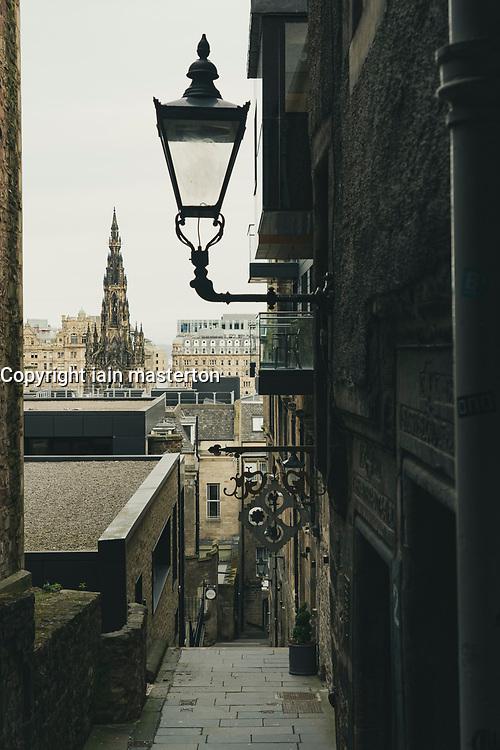 View of Advocate's Close in Edinburgh Old Town, Scotland, UK