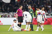 Nabil Fekir of Lyon OUT and Mariano Diaz of Lyon during the French Championship Ligue 1 football match between Olympique Lyonnais and AS Saint-Etienne on february 25, 2018 at Groupama stadium in Décines-Charpieu near Lyon, France - Photo Romain Biard / Isports / ProSportsImages / DPPI