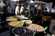Lezignan market is held on Wednesday morning. The first Wednesday of the month is a big market. All manner of produce is on sale as well as household goods, clothes and just about anything. Lezignan, France.