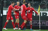 Fotball , 9. desember 2020 , Eliteserien , Srart - Brann <br /> jubel Petter Strand   , Brann