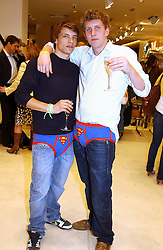 Left to right, FREDDIE WATERS and THOMAS BANKS at a party to celebrate the opening of the new H&M Flagship Store at 17-21 Brompton Road, London SW3 on 23rd March 2005.<br /><br />NON EXCLUSIVE - WORLD RIGHTS