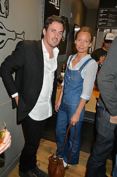 DAVE GARDNER and MARTHA WARD at a party to celebrate the launch of Top Dog at 48 Frith Street, Soho, London on 27th May 2015