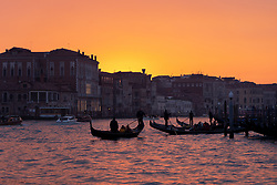 General views of Venice at sunset. From a series of travel photos in Italy. Photo date: Monday, February 11, 2019. Photo credit should read: Richard Gray/EMPICS