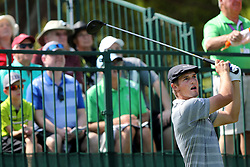 March 10, 2017 - Palm Harbor, Florida, U.S. - DOUGLAS R. CLIFFORD   |   Times.Bryson DeChambeau drives at hole #1 while playing in the second round of the Valspar Golf Championship at Innisbrook Resort and Golf Club's Copperhead Course on Friday (3/10/17) in Palm Harbor. (Credit Image: © Douglas R. Clifford/Tampa Bay Times via ZUMA Wire)