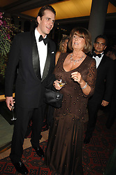 LADY ANNABEL GOLDSMITH and BEN ELLIOT at The Diner Des Tsars in aid of Unicef to celebrate the launch of Quintessentially Wine held at the Guildhall, London EC2 on 29th March 2007.<br /><br />NON EXCLUSIVE - WORLD RIGHTS