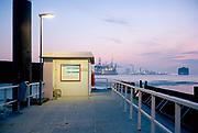 Platform for ferry boat service Port of Rotterdam. © Holland Kodak Ektar serie