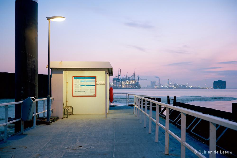Platform for ferry boat service Port of Rotterdam.