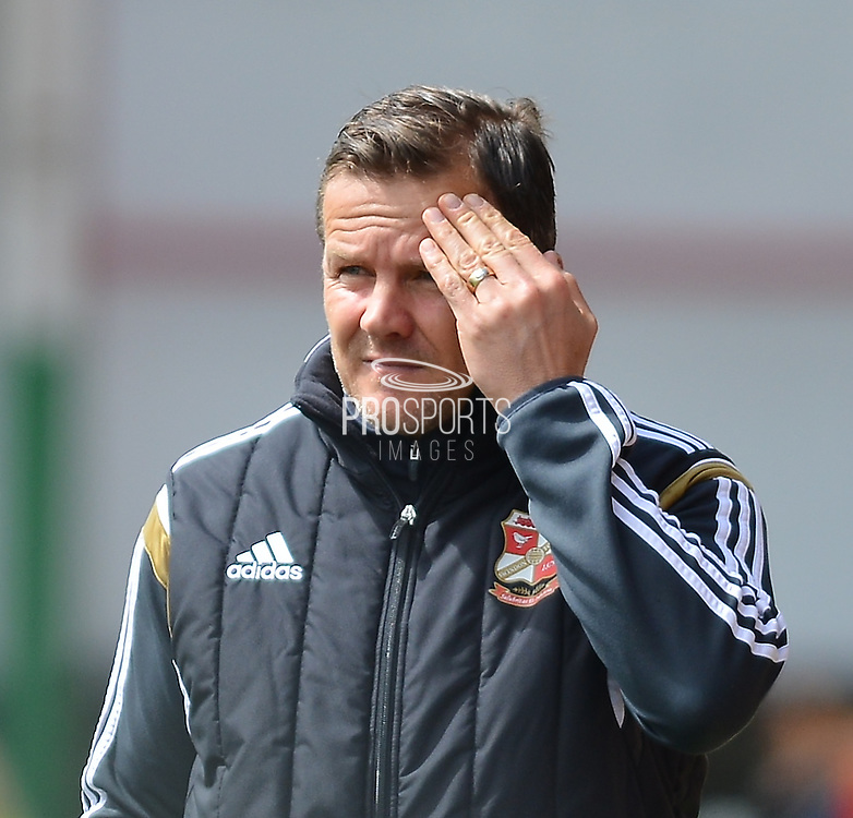Swindon Town's Manager Mark Cooper during the Sky Bet League 1 match between Swindon Town and Leyton Orient at the County Ground, Swindon, England on 3 May 2015. Photo by Mark Davies.
