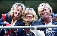 DEN HAAG - Janneke Jiskoot, Danielle Koenen., Marie Louise WORLD CUP Hockey 2014.  COPYRIGHT  KOEN SUYK