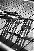 Henley-On-Thames, Berkshire, UK., Wednesday,  19/05/2021,  Oars, Blade Resting, Leander Club,[Mandatory Credit © Peter Spurrier/Intersport Images], , Black & White, B&W,