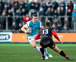 Scott Williams of Ospreys<br /> <br /> Photographer Simon King/Replay Images<br /> <br /> Guinness PRO14 Round 12 - Dragons v Ospreys - Sunday 30th December 2018 - Rodney Parade - Newport<br /> <br /> World Copyright © Replay Images . All rights reserved. info@replayimages.co.uk - http://replayimages.co.uk