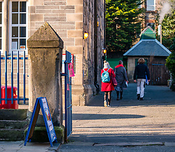 Leith, Edinburgh, Scotland, United Kingdom, 11 April 2019. Leith Walk Council By-Election:  Voters arriving at one of the polling stations at Lorne Primary School. The election is taking place as a result of the resignation of Councillor Marion Donaldson. The election fields 11 candidates, including the first ever candidate for the For Britain Movement in Scotland, Paul Stirling.  The For Britain Movement was founded by former UKIP leadership candidate Anne Marie Waters in March 2018.  <br /> <br /> Sally Anderson/ Edinburgh Elite Media