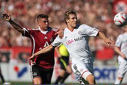 09.04.2011, easy Credit Stadion, Nuernberg, GER, 1 FC Nuernberg vs FC Bayern Muenchen, im Bild:  Zweikampf zwischen Holger Badstuber (Muenchen #28) und Robert Mak (Nuernberg #14).EXPA Pictures © 2011, PhotoCredit: EXPA/ nph/  news       ****** out of GER / SWE / CRO  / BEL ******