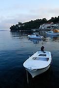 Boats in harbour, Racisce, island of Korcula, Croatia.