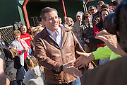 U.S. Senator and GOP presidential candidate Ted Cruz greets supporters during a campaign event at Ottawa Farms December 19, 2015 in Bloomingdale, Georgia.