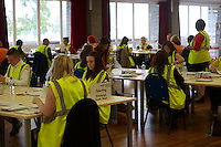 A general view of the postal votes processing. Potocall as postal votes processed. Edinburgh council workers begin to verify the first votes submitted by post at Royal Highland Centre, Ingliston<br /> Pako Mera/Universal News And Sport (Europe) 12/09/2014
