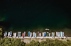 THEMENBILD - Boote liegen am Ufer des Zeller Sees, aufgenommen am 24. Juli 2019 in Zell am See, Österreich // Boats are lying on the shore of the Zeller lake, Zell am See, Austria on 2019/07/24. EXPA Pictures © 2019, PhotoCredit: EXPA/ JFK