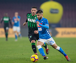 January 13, 2019 - Naples, Campania, Italy - Lorenzo Insigne of SSC Napoli seen in action during the Serie A football match between SSC Napoli vs US Sassuolo at San Paolo Stadium. (Credit Image: © Ernesto Vicinanza/SOPA Images via ZUMA Wire)