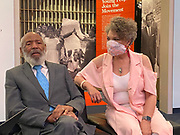 """6/19-20/2020 Jackson MS.<br /> James Meredith, civil rights icon and the first Black to attend Ole Miss University speaks with a reporter from Reuters News Agency at the Mississippi Civil Rights Museum. Also pictured is Meredith wife Judy. Photos in their home from 6/20/2020 interview.<br /> <br /> May 28, 2020 5/28/2020 Jackson, MS<br /> Mississippi native son and civil rights icon, James Meredith, 86, speaks about Covid -19 and how the world will never be the same. He also spoke about the murder of  George Floyd in Minnesota and how it is another example of """"holding down a black man,"""" oppression and racism in America. James stresses that it is time for African American Christians to stand up and raise the moral character of their race and lead and by example. He feels the first step is to follow the golden rules and 10 commandments and Mississippi is the center of the Universe. He also stated that it is imperative the African American community votes, in all elections. James will be turning 87 on June 25th and plans on starting his last mission from God then and self publishing his 28th book. His mission involves him traveling to all 82 counties in Mississippi and spreading his message from God and his plan to fix the black/white race issue in America. Photo ©Suzi Altman"""