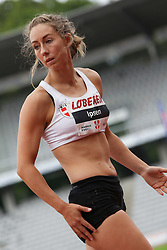 Jessie Ipsen of Denmark in the long jump at the Aarhus Nordic Challenge 2016 at Ceres Park, Aarhus, Denmark, 25.6.2016. (Allan Jensen/EVENTMEDIA).