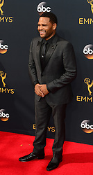 September 18, 2016 - Los Angeles, CA, USA - Anthony Anderson arrives at the 68th Annual Emmy Awards at the Microsoft Theater in Los Angeles, California on Sunday, September 18, 2016. (Credit Image: © Michael Owen Baker/Los Angeles Daily News via ZUMA Wire)