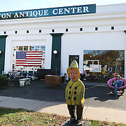 CLINTON, CONNECTICUT- NOVEMBER 08: A scene outside Clinton Antique Center near the Clinton Town Hall used for poling on election day in the coastal town of Clinton, Connecticut on November 08, 2016 (Photo by Tim Clayton/Corbis via Getty Images)