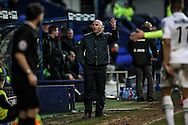 Gary Brabin (Tranmere Rovers) shows he is unhappy with a decision made by Karl Evans (Referee) during the Vanarama National League match between Tranmere Rovers and Southport at Prenton Park, Birkenhead, England on 6 February 2016. Photo by Mark P Doherty.