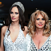 Roksana Slyahtitch of Miss USSR UK 2014 Arrivers at the Grand Final MISS USSR UK 2019 at Hilton hotel London on 27 April 2019, London, UK.