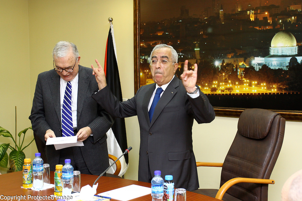 Mahmoud Abbas at his office in Ramallah. Palestinian Prime Minister, photograph by Debbie Zimelman, Modiin, Israel