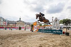 ECKERMANN Katrin (GER), F.C. OKARLA<br /> Münster - Turnier der Sieger 2019<br /> Preis des EINRICHTUNGSHAUS OSTERMANN, WITTEN<br /> CSI4* - Int. Jumping competition  (1.45 m) - <br /> 1. Qualifikation Mittlere Tour<br /> Medium Tour<br /> 02. August 2019<br /> © www.sportfotos-lafrentz.de/Stefan Lafrentz