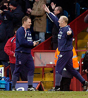 Photo: Alan Crowhurst.<br />Crystal Palace v Cardiff City. Coca Cola Championship. 04/02/2006. <br />Palace manager Iain Dowie (R) celebrates the goal.