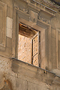 open window of an old classical build house