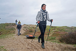 Cathelijne in training for the Camino 2020 at the Soesterduinen on March 08, 2020 in Soest, Netherlands
