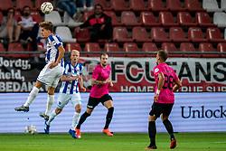 """Sieben Dewaele #15 of Heerenveen in action. FC Utrecht convincingly won the practice match against sc Heerenveen. The """"Domstedelingen"""" were too strong for SC Heerenveen in Stadium Galgenwaard with 4-1<br /> on August 20, 2020 in Utrecht, Netherlands"""